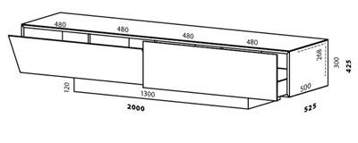 Ширина и высота тв диагональ 65 17